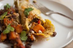 black bean and sweet potato enchiladas ...     I'd like this as a taco, and possible with butternut squash versus sweet potato