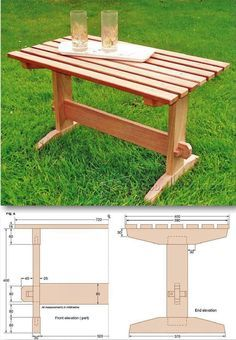 Outdoor Coffee Table Plans - Outdoor Furniture Plans & Projects   WoodArchivist.com