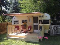 When Im not traveling my little travel trailer will be used as a guest house in my backyard