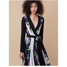 481bbb0266edb3 Diane von Furstenberg Penelope Wrap Dress (365 CAD) ❤ liked on Polyvore  featuring dresses