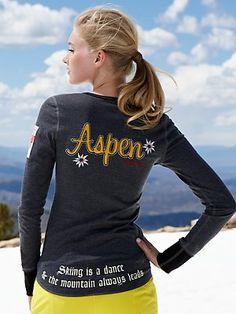 gorsuch exclusive. aspen ski dance henley by alp-n-rock. love it for apres ski www.luxuryskitrips.com