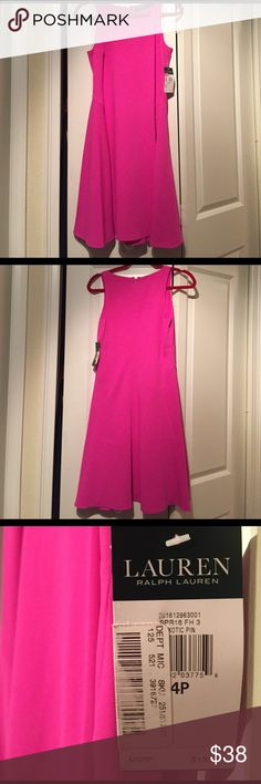 Ralph Lauren Petite Spring Exotic Pink Party Dress Super flirty and fun pink dress by Ralph Lauren. Size 4P, a little past the knee. Never been worn, new with tags. Just in time for some spring fun! Ralph Lauren Dresses Midi