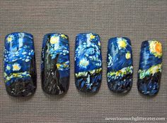 Starry Night Nails.  mother of god.