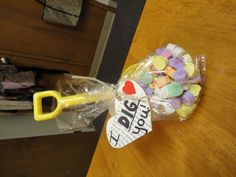 I DIG you! (A toy shovel with conversation hearts)