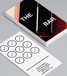 18 best lounge accessories images on pinterest business cards the bar this edgy design which merges both business card and loyalty card reheart Image collections