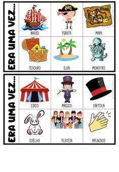 FICHAS PARA PRODUÇÃO DE TEXTO Portuguese Lessons, Learn Portuguese, Poetry For Kids, Spanish Games, Vocabulary Games, Home Schooling, Teaching Spanish, Conte, Kids Education