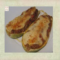 La Taza de Loza: Calabacines Rellenos de verduras(Zucchine Ripiene al Forno)