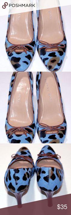 f52a53357728 Gianni Bini Blue Suede leopard print Gianni Bini Blue Suede leopard print  vintage looking shoes.