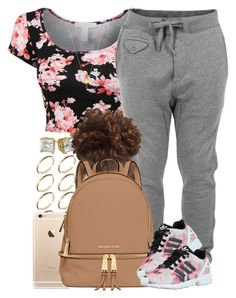 Chill Fit. by livelifefreelyy on Polyvore featuring polyvore, fashion, style, Diesel, MICHAEL Michael Kors, ASOS, Joolz by Martha Calvo and adidas Originals