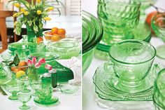 Spring Green Tablescape - The Cottage Journal