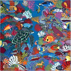 Carré 90 x 90 cm Hermès | Under The Waves