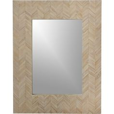 Chevron Wall Mirror  | Crate and Barrel