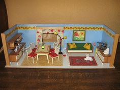 Vero-Puppenstube ,eingerichtet Puppenhaus  Puppenküche-kaufladen in Antiquitäten & Kunst, Antikspielzeug, Puppen & Zubehör | eBay!