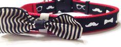The Gentlemen Dog Collar with Bow Tie