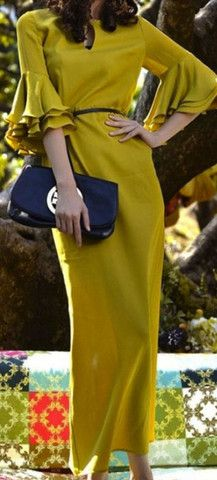 Modest ruffled maxi Chartreuse dress. http://www.amazon.com/gp/product/0895558009/ref=as_li_ss_tl?ie=UTF8&camp=1789&creative=390957&creativeASIN=0895558009&linkCode=as2&tag=collehammo-20