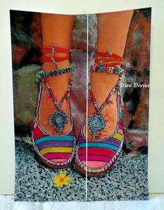 Décoration Bohème Ethnique  Chaussures Bohèmes par DivaDivinePastel