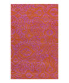 Loving this Red & Purple Alhambra Wool Rug on #zulily! #zulilyfinds