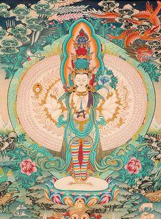 Avalokitesvara Thousand Arms of Compassion.