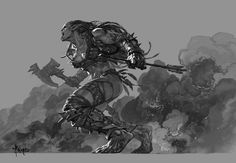 ArtStation - We die, we fight!--Ms. Orc-04, Bayard Wu