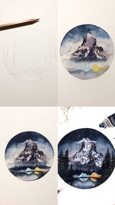 (@rosies.sketchbook) Watercolor painting process photos.  #watercolor #watercolour #painting #sketch #art #artist #artwork #draw #drawing #doodle #watercolorist #illustration #illustrate