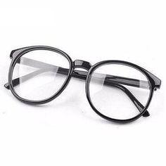 Women Vintage Glasses Frame Plain Mirror-aFancyShop