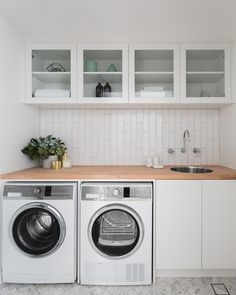 Best Laundry Room Decorating Ideas To Inspire You - Page 31 of 53 - VimDecor laundry room ideas, laundry room organization, laundry room design, laundry room decor Laundry Room Cabinets, Laundry Room Organization, Laundry In Bathroom, Basement Laundry, Laundry Closet, Laundry Storage, Diy Cabinets, Laundry Shelves, Laundry Room With Sink