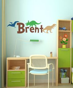 Take a look at this Dinosaur Land Personalized Wall Decal Set by Sissy Little on #zulily today!