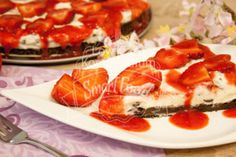 Erdbeer-Stracciatella-Kuchen Rezept