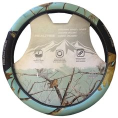 Steering Wheel Cover - Car Truck SUV - Infinity Smooth Grip - Camouflage - Realtree Outfitters - Mint