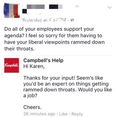 When Campbell's got sassy: