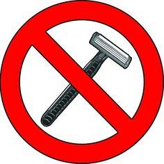 no shaving