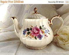 ON SALE SADLER Teapot Vintage Sadler by AgedwithGraceVintage