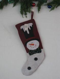 Kerst kousen ( snow hoofd randjes )