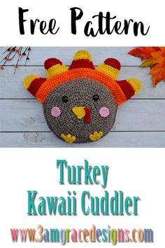 Crochet Amigurumi Design Our free turkey crochet pattern is perfect for Thanksgiving! The new addition to our kawaii cuddler line is the sweetest amigurumi design. Thanksgiving Crochet, Crochet Fall, Holiday Crochet, Halloween Crochet, Crochet Gifts, Crochet Cushions, Crochet Pillow, Crochet Blankets, Kawaii Crochet