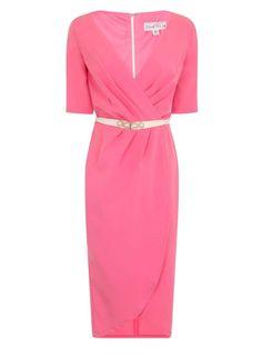 **Paper Dolls Coral Wrap Midi Dress - View All Dresses - Dresses - Dorothy Perkins