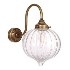 Shopping for glass lights? Try our wall mounted, brass Mia Wall Light, with hand blown glass shade for industrial or modern country feel to your bedroom, living room & kitchen diner. Glass Pendant Light, Glass Pendants, Pendant Lights, Outdoor Wall Lighting, Modern Lighting, Modern Properties, Chimney Breast, Contemporary Classic, Glass Shades