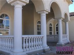 baluster for porches | ... front porch with a precast concrete balustrade railing with columns