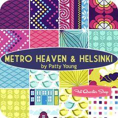 Metro Heaven & Helsinki Fat Quarter Bundle Patty Young for Michael Miller Fabrics - Fat Quarter Shop