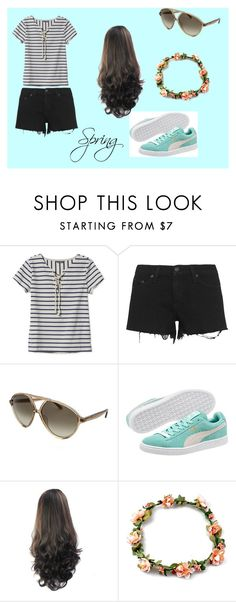 """""""Spring"""" by harrietspakman202 ❤ liked on Polyvore featuring L.L.Bean, rag & bone, Valentino, Puma and Spring"""