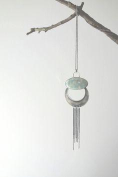 Custom Aquamarine Boho Style Necklace
