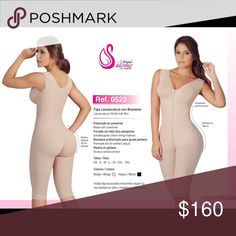 Post Surgery/ Liposuction Compression Garment Women's ⁄ Post Surgical Shapewear ⁄ Salome Liposculpture Girdle with Bra/ Liposuction Compression Garment.    Made with Powernet.   Full body support.   Front zipper.   Cotton bra.   Wide straps Lifts Bust.  Anti-Allergenic/ Hypoallergenic cotton lining material. Super high compression controls waist line, abdomen, & hips   Gluteus Enhancement.   Lace embroidery.   Open crotch convenient for bathroom use. Intimates & Sleepwear Shapewear