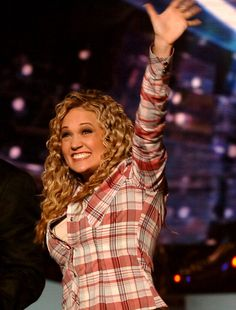 """After hearing her sing """"Alone"""" on March 22, 2005, American Idol judge Simon Cowell predicted that the Country singer and American Idol Season 4 winner Carrie Underwood will not only win the competitio"""