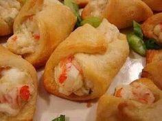 Crab stuffed crescent rolls