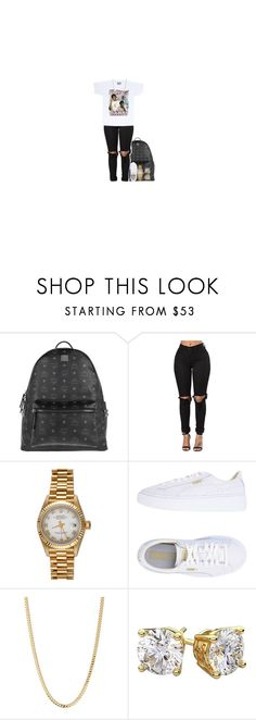 """Untitled #71"" by realcrazyshelle ❤ liked on Polyvore featuring MCM, Rolex, Puma and Bianca Pratt"