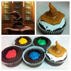 Harry Potter sorting house cupcakes