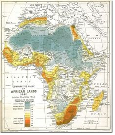 Map of alexander the greats india campaigns from 327 to 325 bc map showing the comparative desirability of african lands 1891 gumiabroncs Image collections