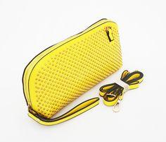 Dianna Clutch Korean Bag , cute good quality. Ada tali pendek samping dan selempang. Warna kuning. Uk 30x9x15