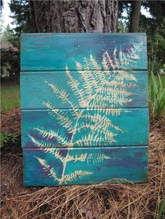 A great way to add some color to the backyard! Have the boys paint them. A great way to add some color to the backyard! Have the boys paint them. Garden Crafts, Garden Projects, Art Projects, Recycled Garden Art, Recycled Wood, Garden Ideas, Garden Fence Art, Outdoor Wall Art, Outdoor Decor