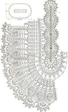Ажурный коврик с «ананасами». Крючком. Схема
