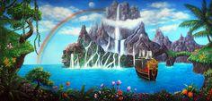 Neverland Scenic Backdrop | TheatreWorld